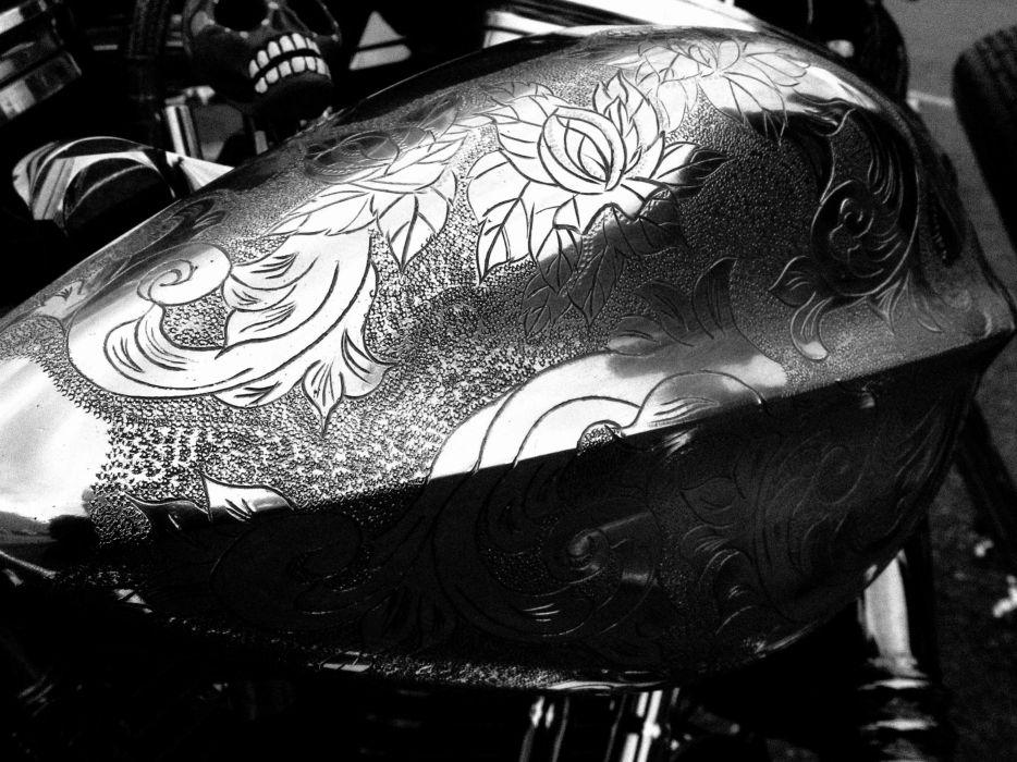 CUSTOM CHOPPER motorbike tuning bike hot rod rods art bokeh wallpaper