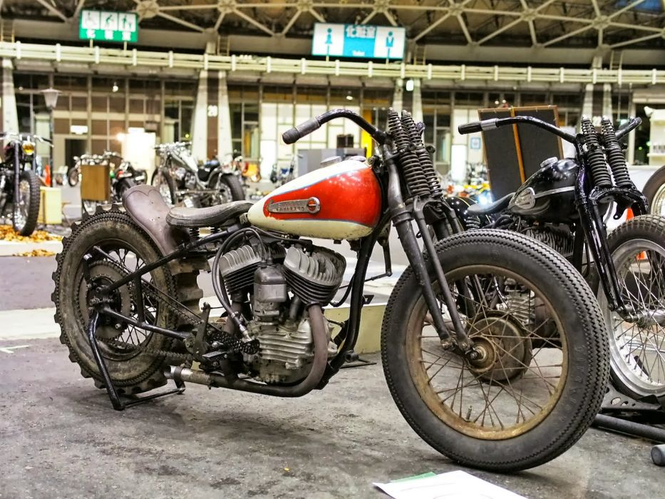 CUSTOM CHOPPER motorbike tuning bike hot rod rods retro    h wallpaper