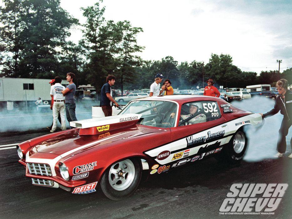 drag racing race hot rod rods chevrolet camaro   j wallpaper