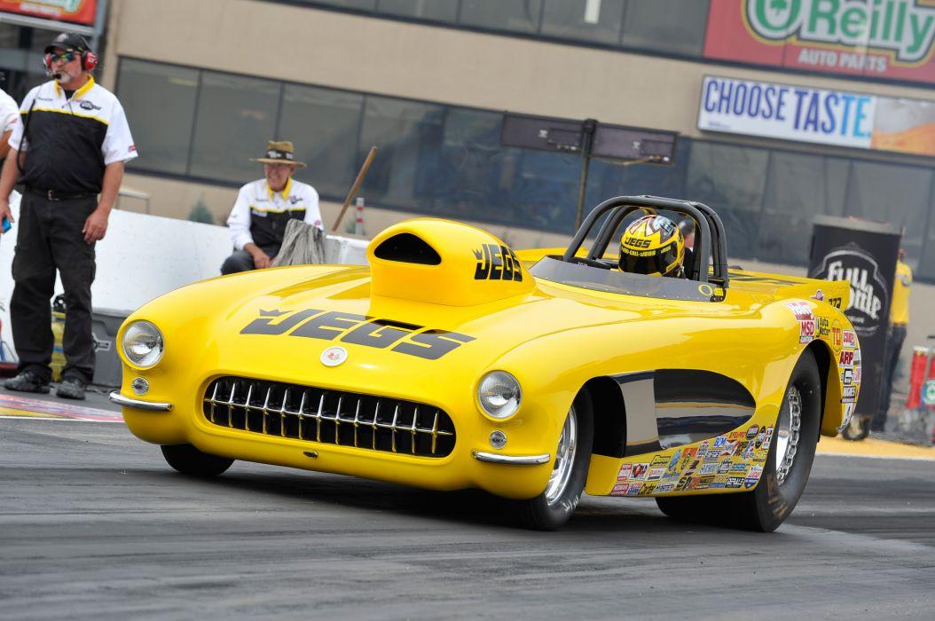 drag racing race hot rod rods chevrolet corvette    f wallpaper