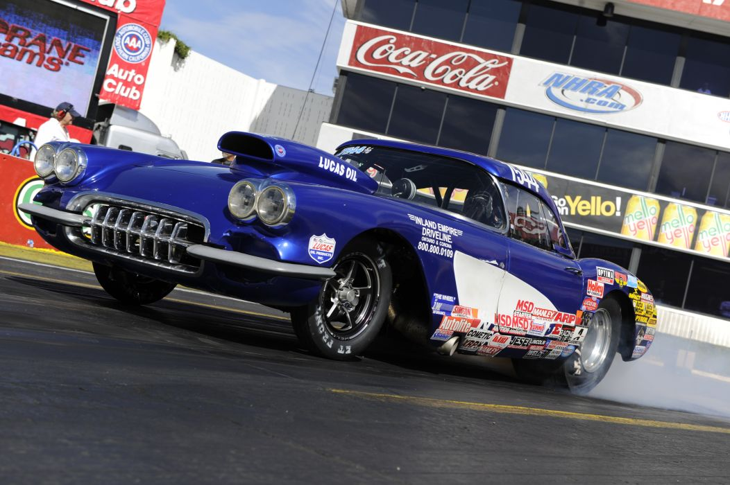 drag racing race hot rod rods chevrolet corvette    d wallpaper