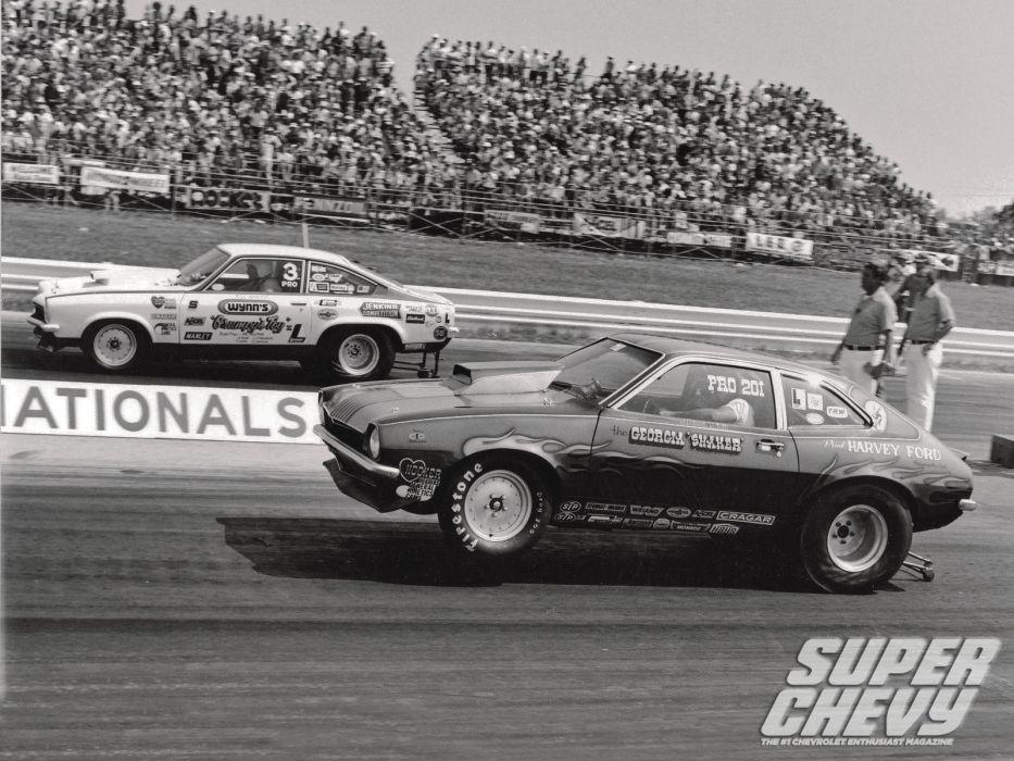 drag racing race hot rod rods chevrolet vega ford pinto      g wallpaper