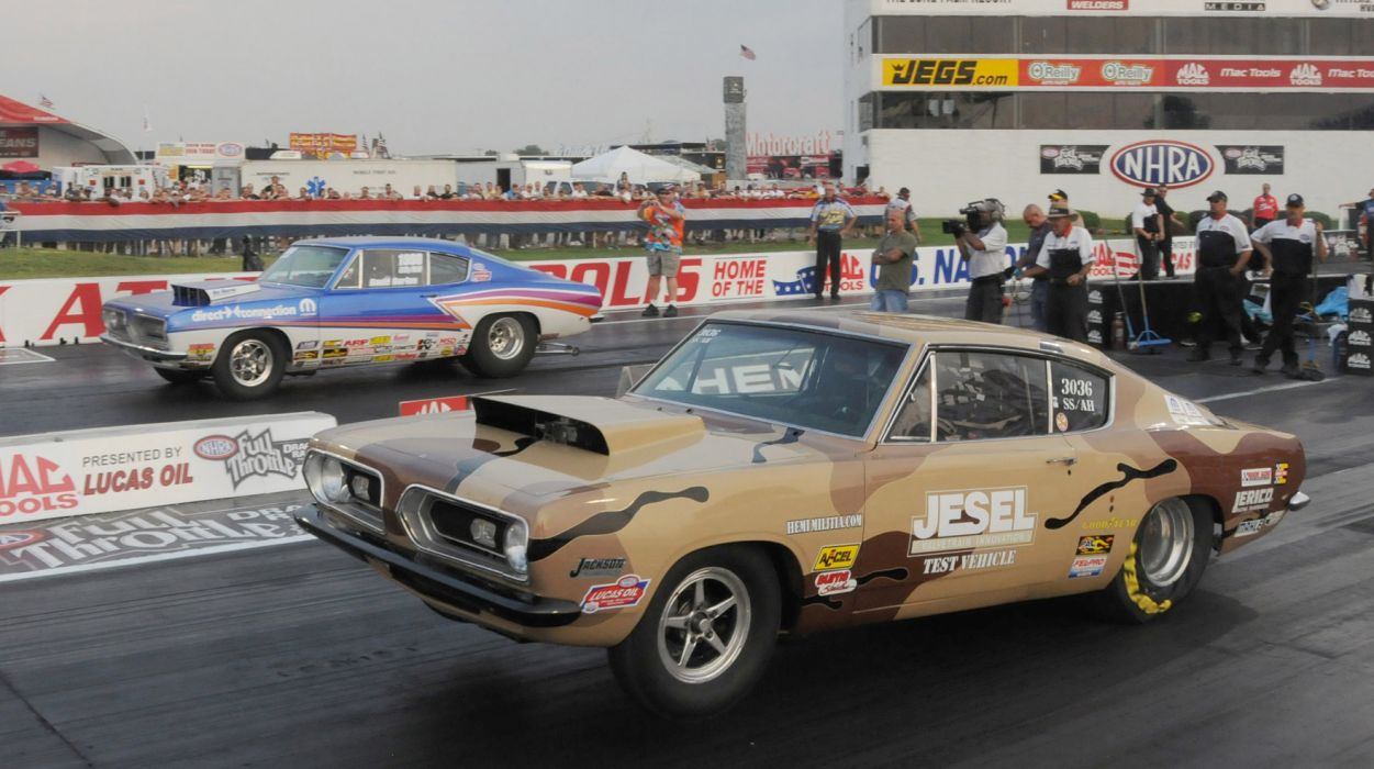 drag racing race hot rod rods plymouth barracuda cuda   f wallpaper