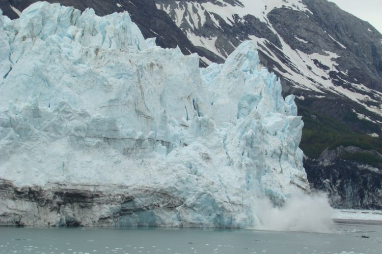 glacier calving winter ice snow d wallpaper
