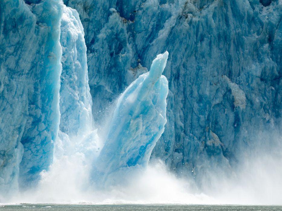 glacier calving winter ice snow    y wallpaper