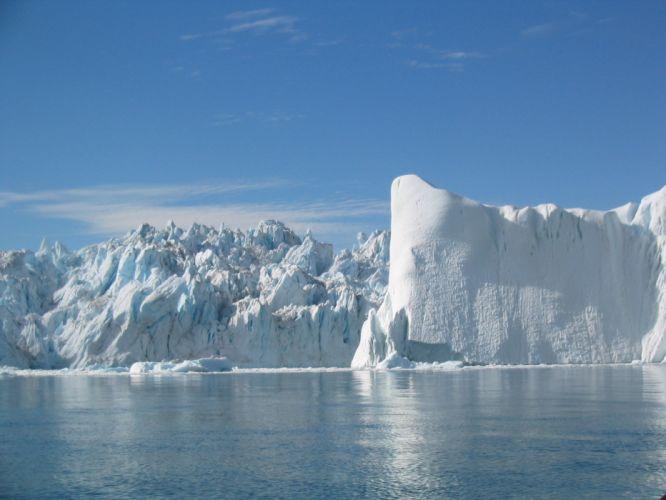 glacier calving winter ice snow fs wallpaper