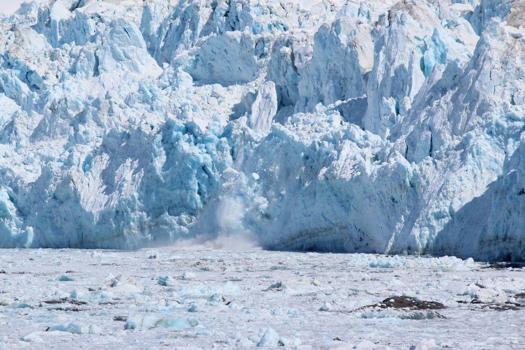 glacier calving winter ice snow    ye wallpaper