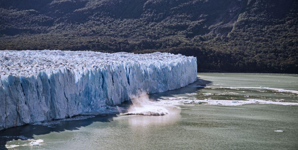 glacier calving winter ice snow e wallpaper