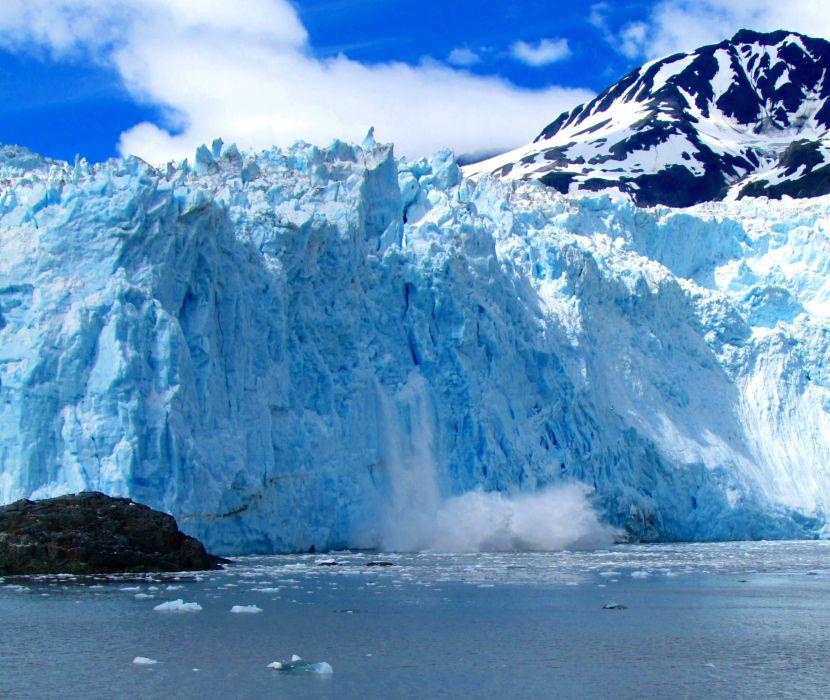 glacier calving winter ice snow     rw wallpaper