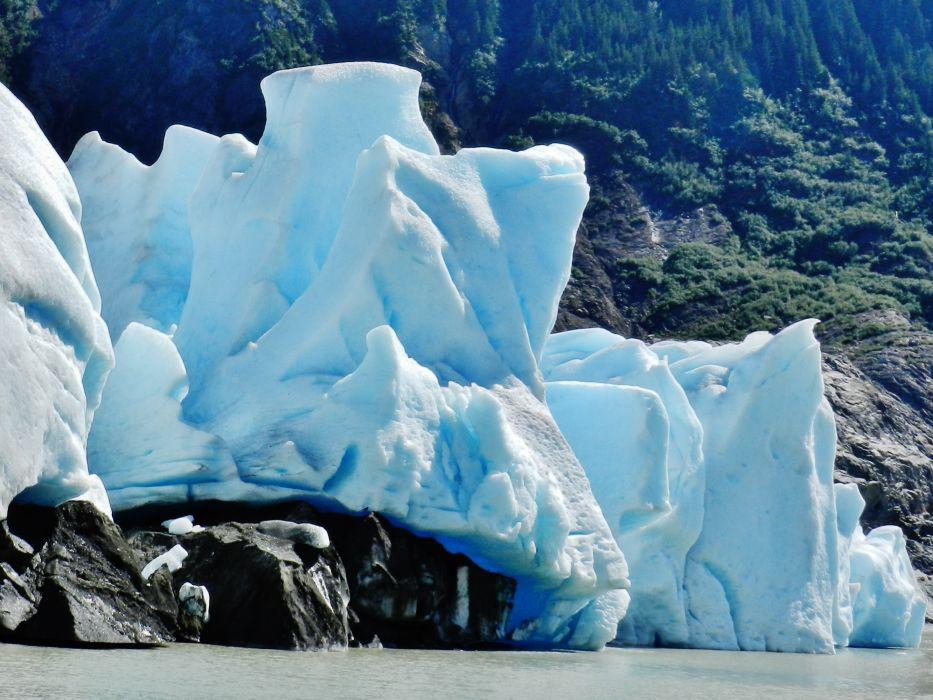 glacier calving winter ice snow      g wallpaper