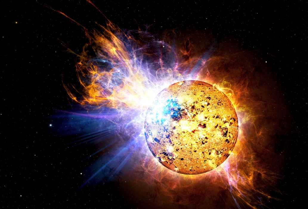solar flare sun fire glow psychedelic space abstract star    g wallpaper
