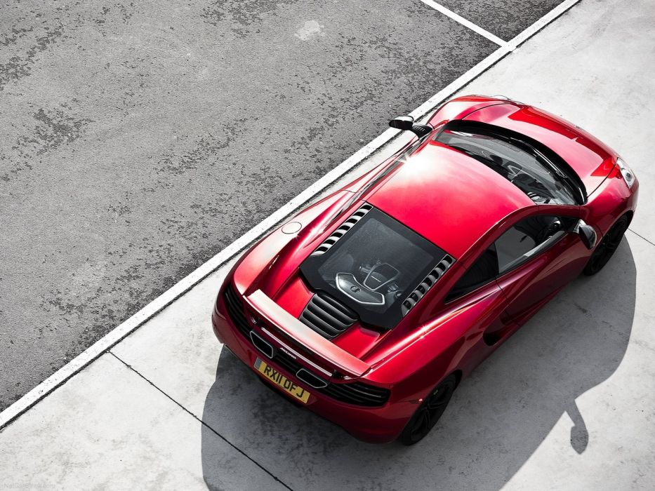red cars McLaren MP4-12C wallpaper