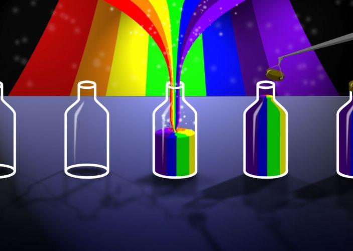 bottles rainbows wallpaper
