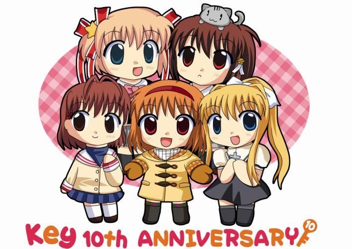 chibi little Clannad Kanon Kamio Misuzu Furukawa Nagisa anime Natsume Rin anime girls Kamikita Komari Air (anime) wallpaper
