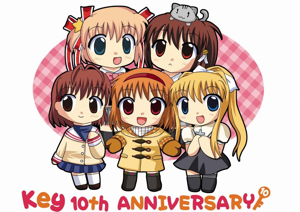 chibi little Clannad Kanon Kamio Misuzu Furukawa Nagisa anime Natsume Rin anime girls Kamikita Komari Air (anime) wallpaper