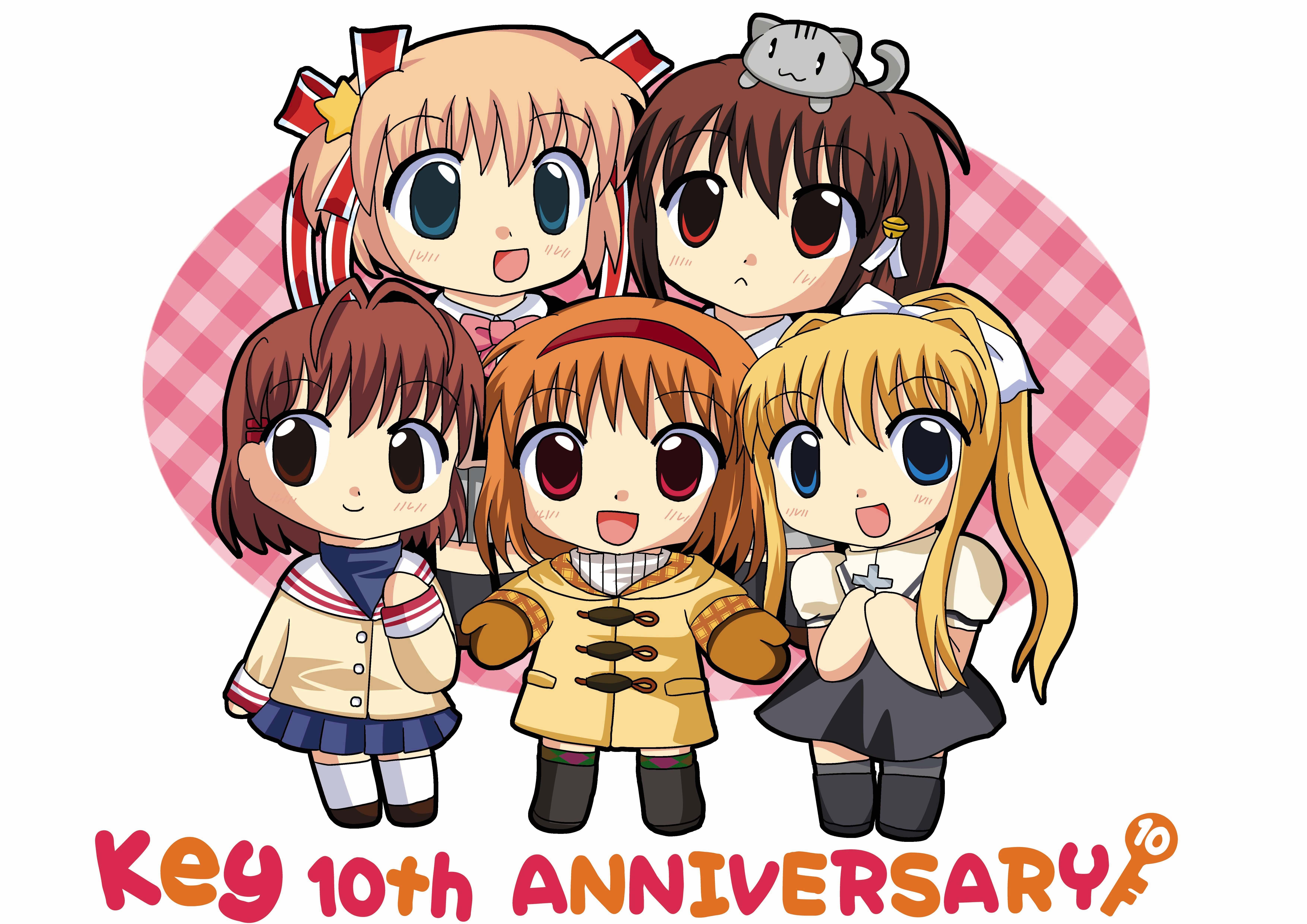 Chibi Little Clannad Kanon Kamio Misuzu Furukawa Nagisa Anime Natsume Rin Girls Kamikita Komari Air Wallpaper