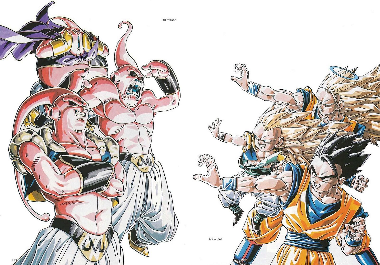 buu son goku son gohan dragon ball z wallpaper | 1602x1118 | 200706