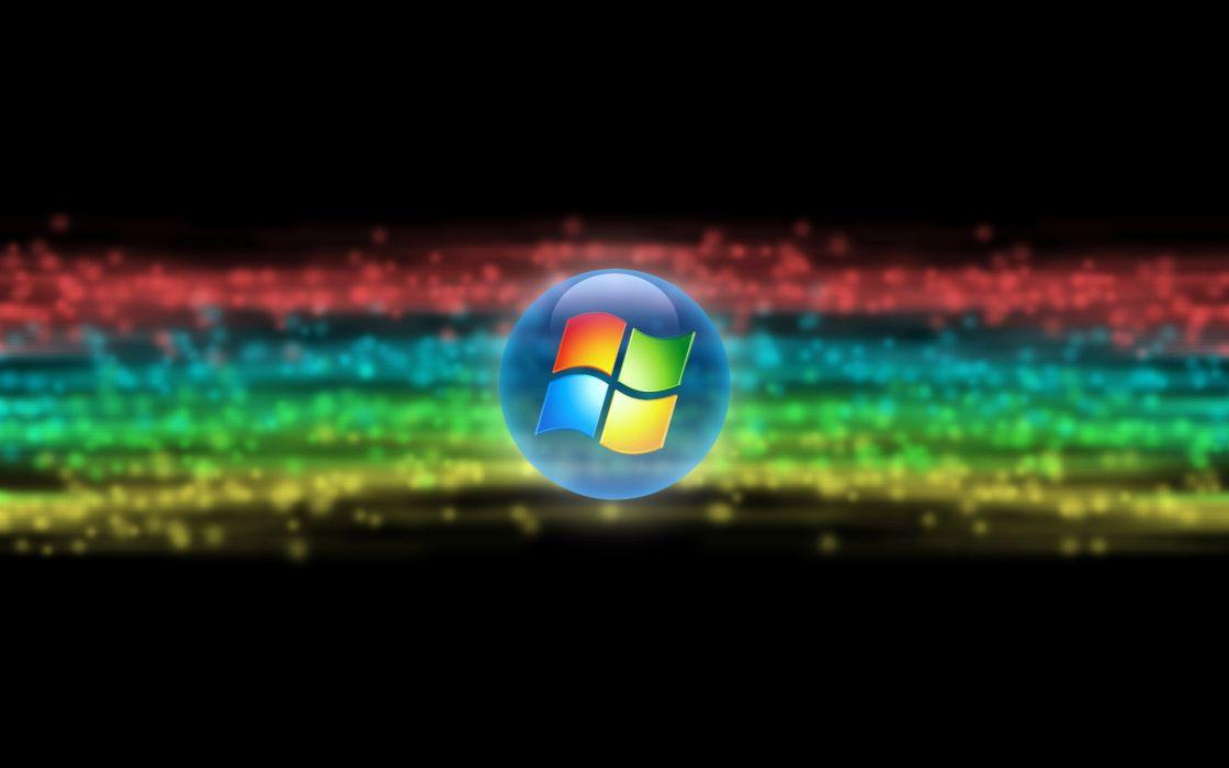 rainbows Microsoft Windows logos wallpaper