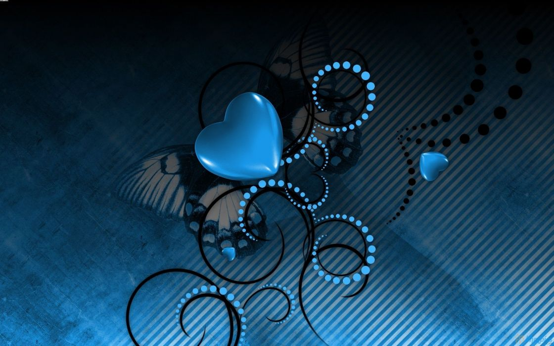 blue love wallpaper