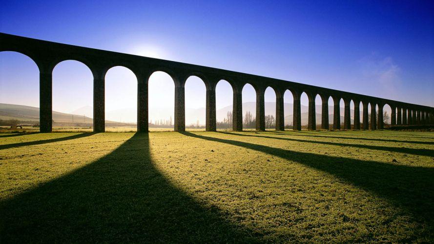 landscapes aqueduct wallpaper