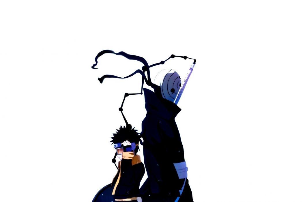 Naruto: Shippuden Uchiha Obito Tobi white background wallpaper
