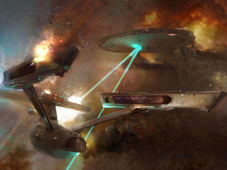 Star Trek galaxies USS Reliant USS Enterprise wallpaper