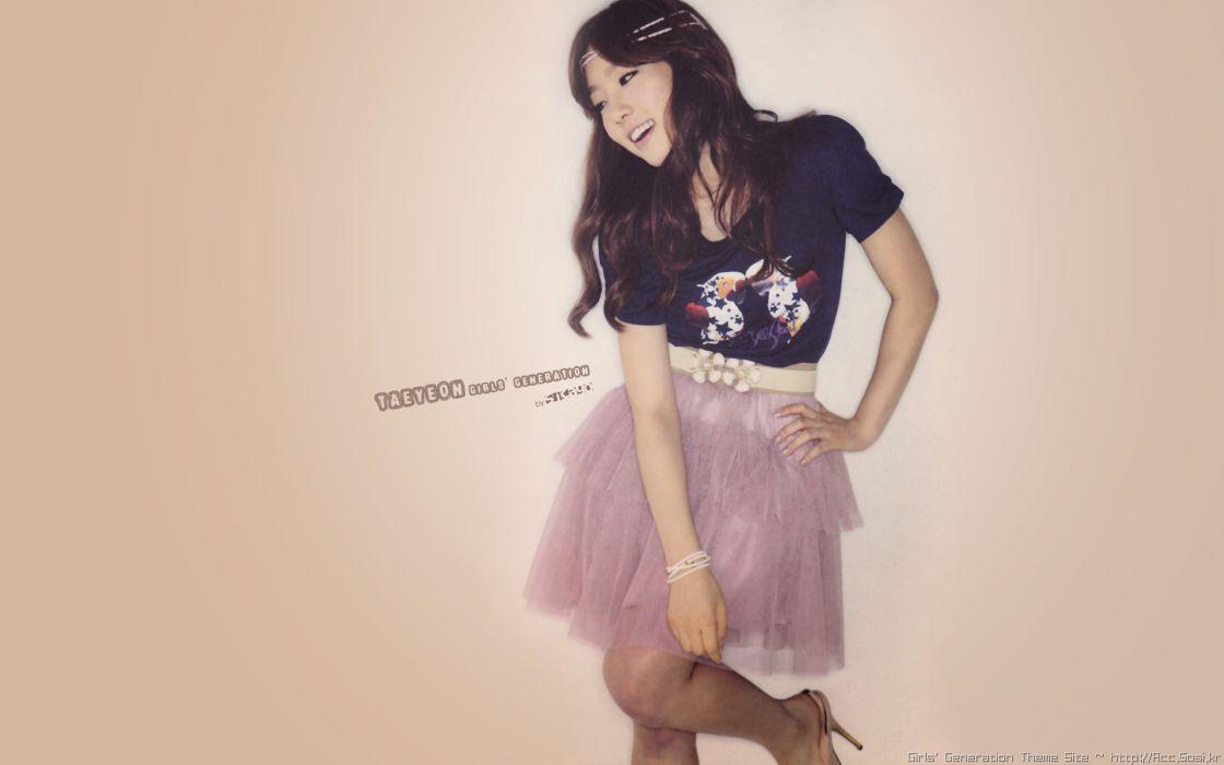 women Girls Generation SNSD celebrity Kim Taeyeon K-Pop wallpaper