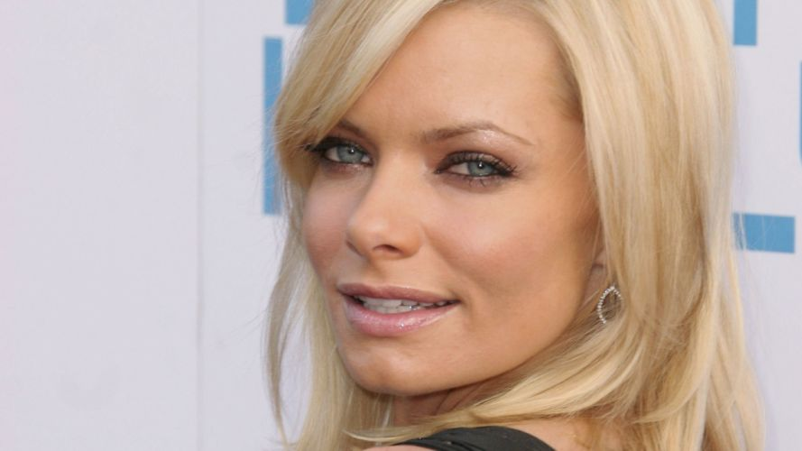 blondes women blue eyes lips Jaime Pressly smiling wallpaper
