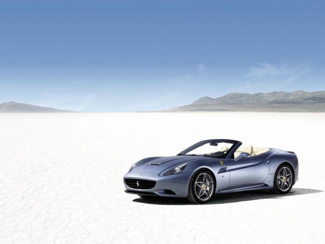 deserts Ferrari California widescreen wallpaper