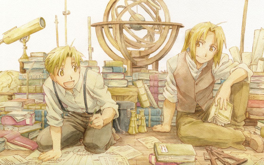 Fullmetal Alchemist Elric Alphonse Elric Edward anime anime boys wallpaper