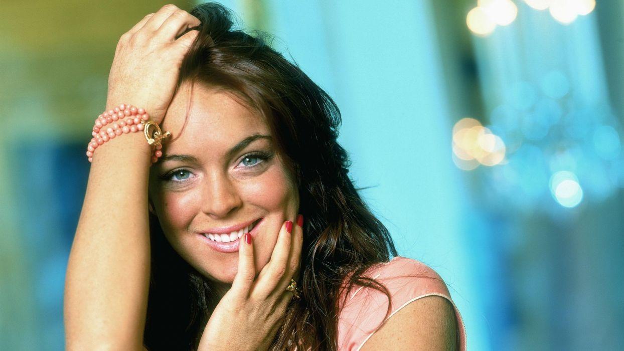 women models Lindsay Lohan wallpaper