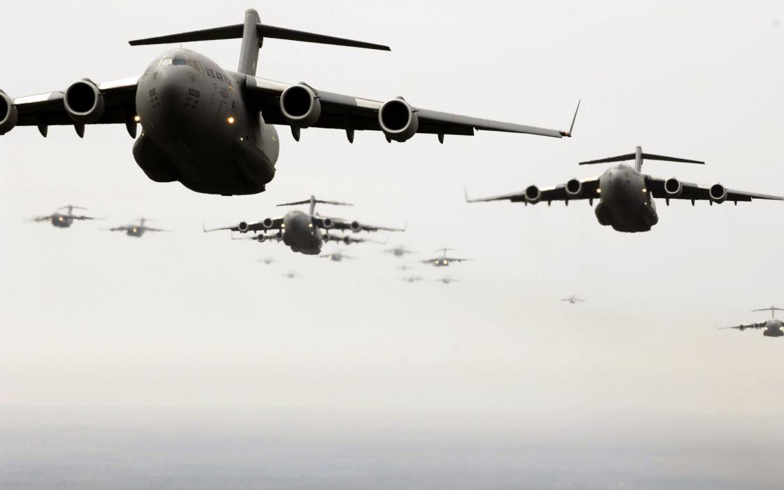 war airplanes C-17 Globemaster wallpaper