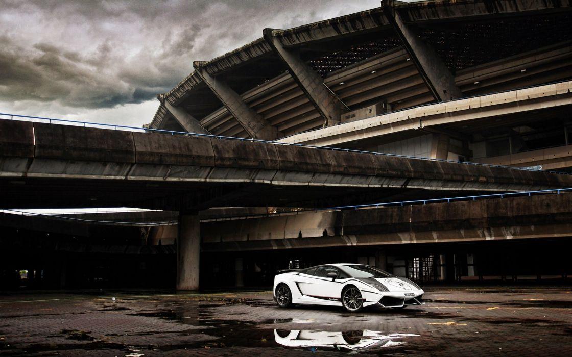 cars stadium Lamborghini Gallardo wallpaper
