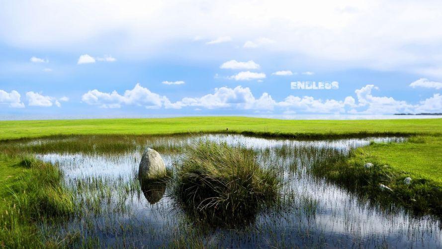 water landscapes nature grass wallpaper