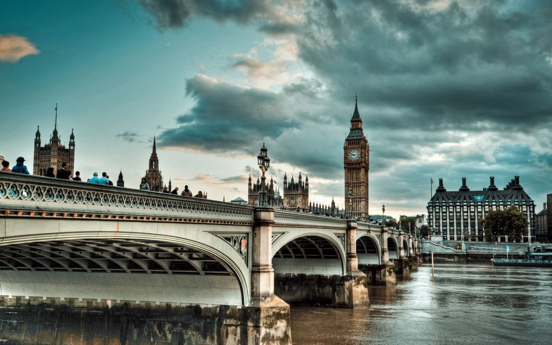 cityscapes England Big Ben United Kingdom HDR photography River Thames Westminster Bridge wallpaper