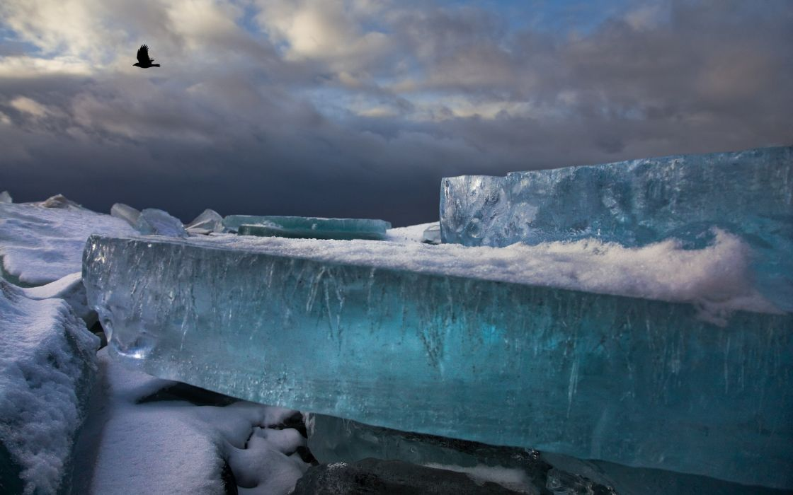 ice winter HDR photography wallpaper