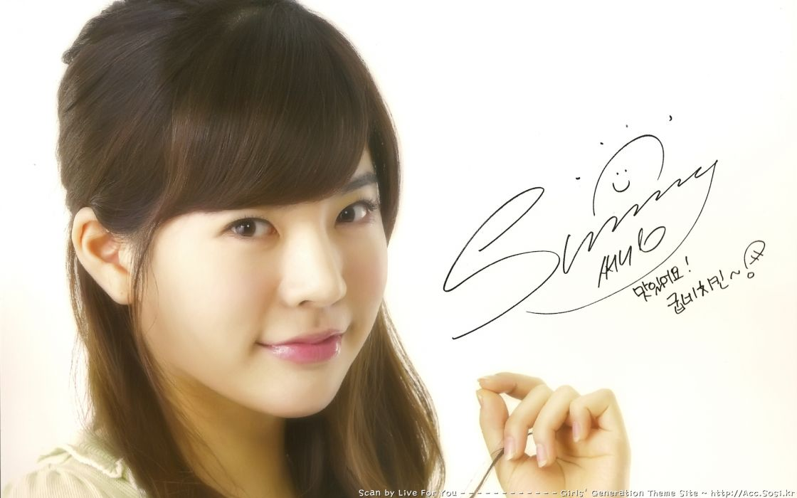 women Girls Generation SNSD celebrity signatures Lee Soon Kyu wallpaper