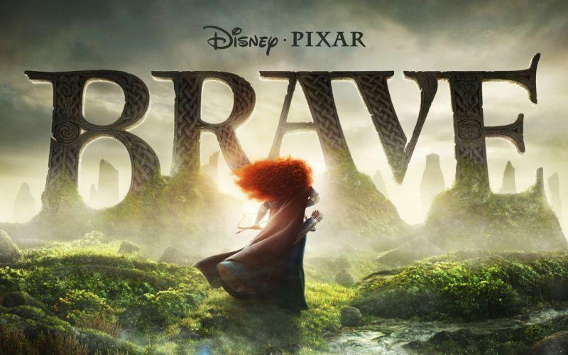 Pixar Disney Company movies Scotland Brave arrows Highlands red hat bow (weapon) Merida Mark Andrews wallpaper