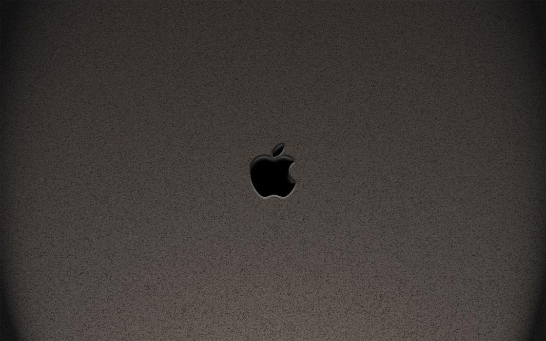 minimalistic Apple Inc_ logos wallpaper