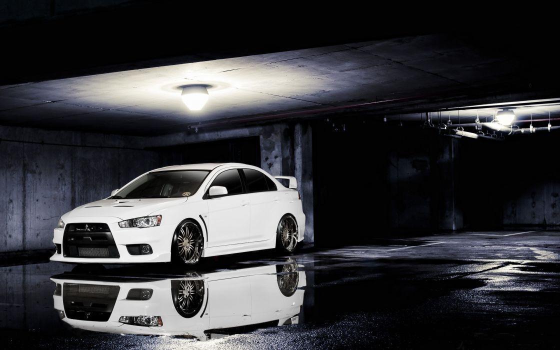 cars vehicles Mitsubishi Lancer Evolution X wallpaper