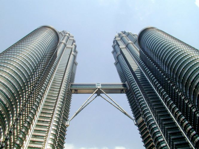 architecture buildings Malaysia Petronas Towers Kuala Lumpur wallpaper