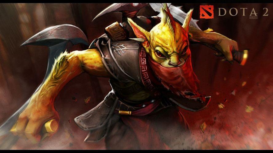 video games weapons escape red eyes DotA bounty hunter DotA 2 game Carry Nuker wallpaper