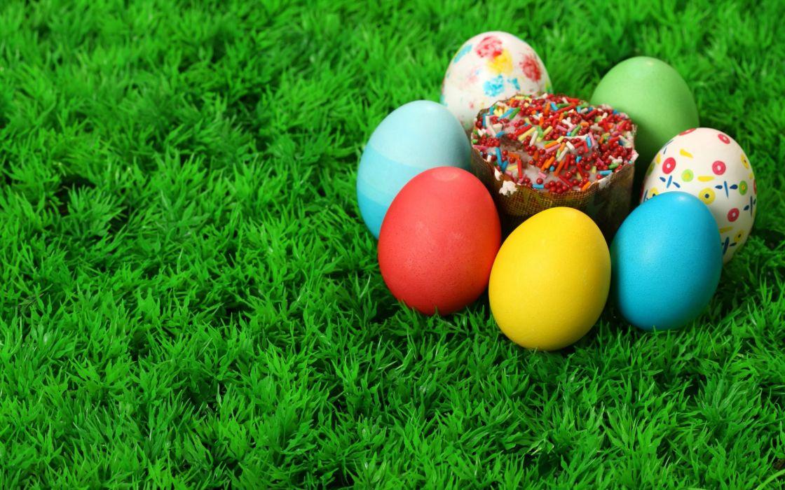 multicolor easter eggs wallpaper