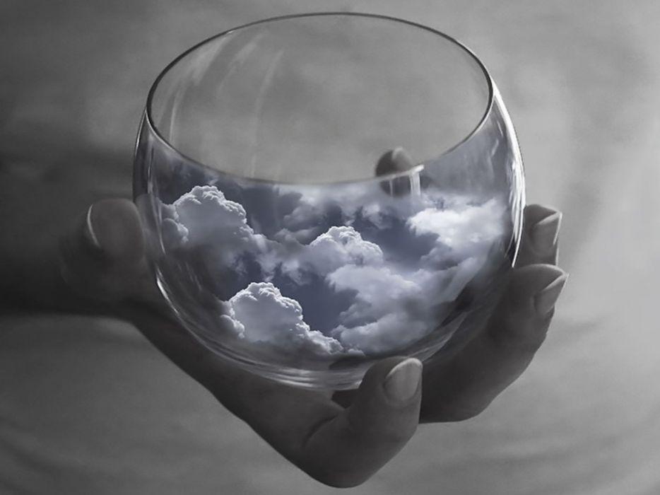 clouds cups wallpaper