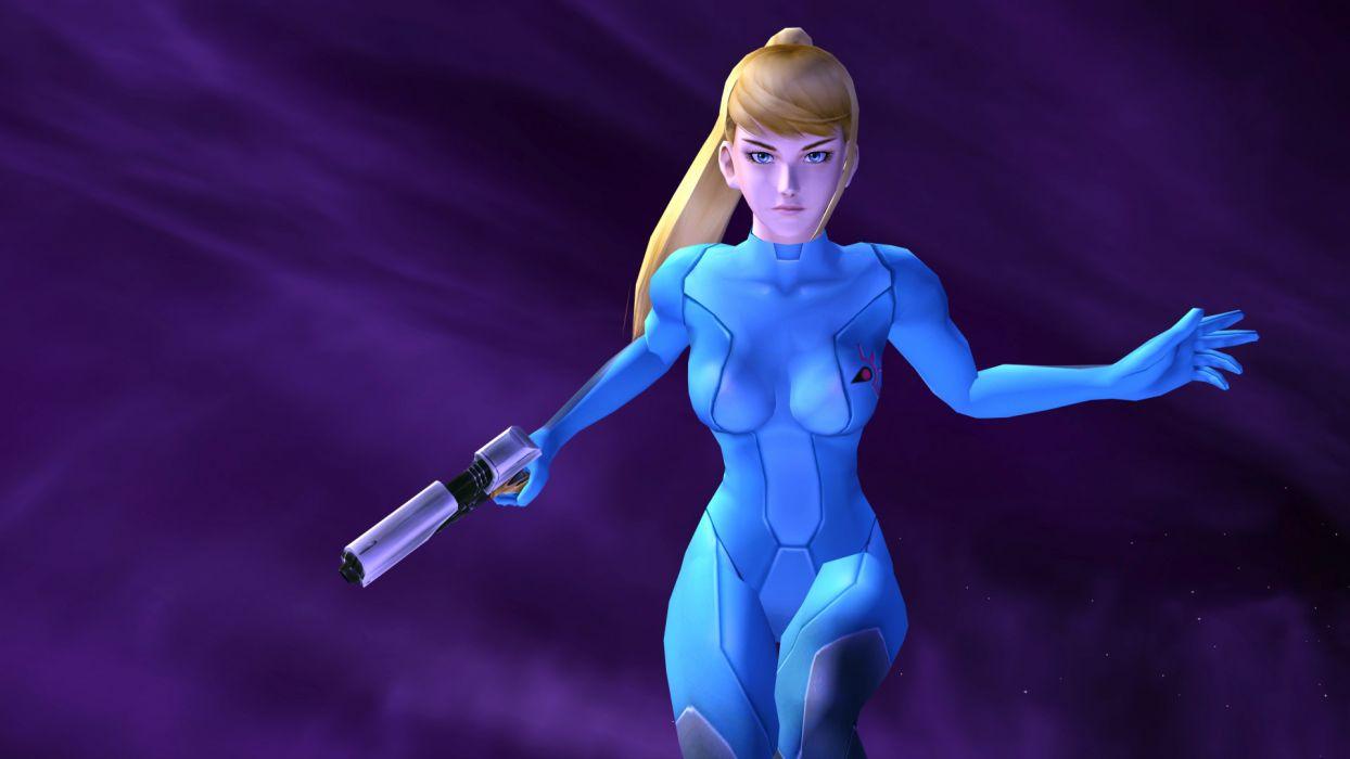 Metroid video games zero suit Samus Aran Super Smash Bros wallpaper