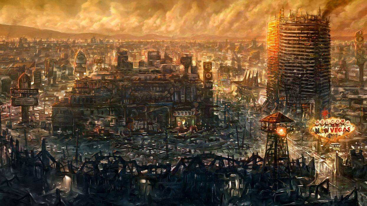 video games Fallout New Vegas artwork wallpaper