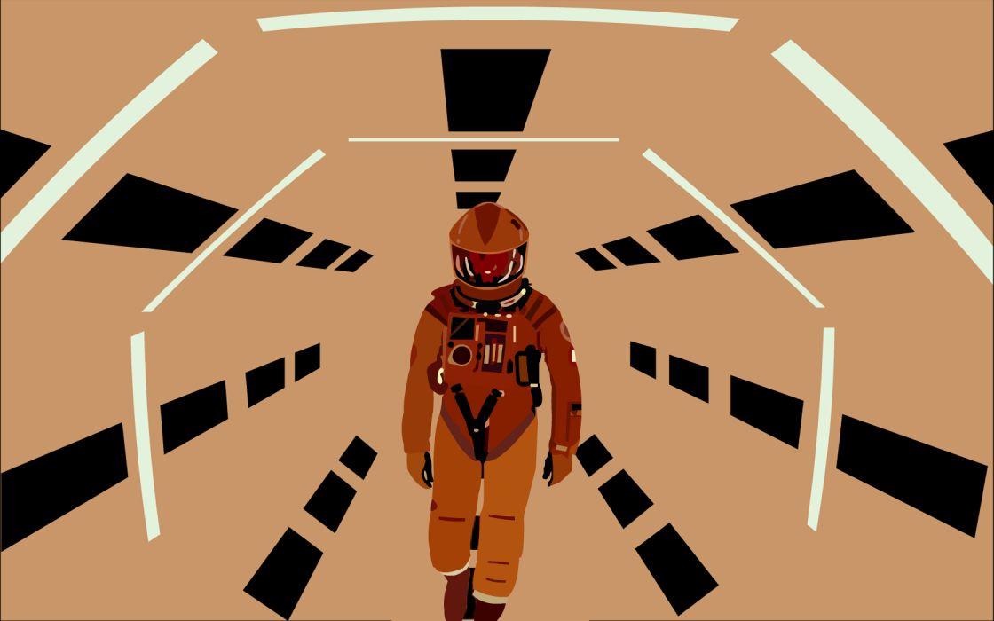 vectors 2001: A Space Odyssey wallpaper