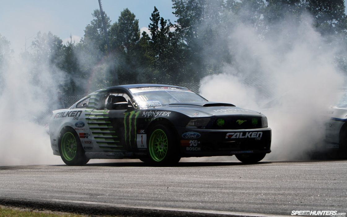 monsters cars drifting cars vehicles Ford Mustang drifting Falken tires wallpaper