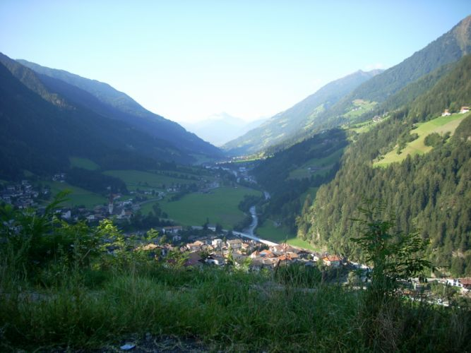 mountains landscapes nature forests valleys Italy villages Alps meran wallpaper