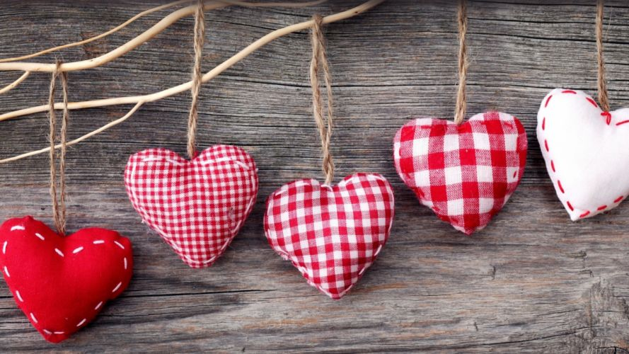 hearts fabrics wallpaper
